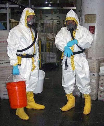 Biohazard suit