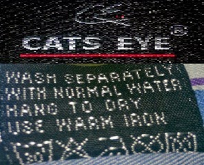 Care label of Bangladeshi brand 'CATS EYE'