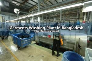 garments washing plant in bangladesh