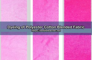 Dyeing of Polyester Cotton fabric