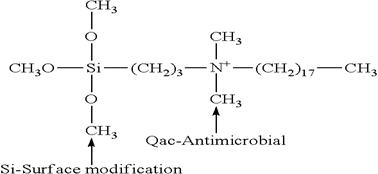 Chemical formula of antibacteria