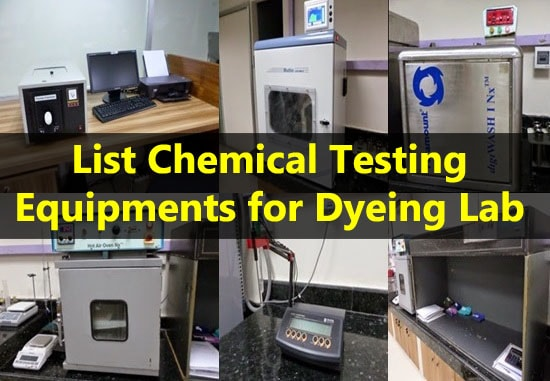 Fig: Testing equipments for dyeing lab