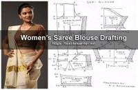Women's Saree Blouse Drafting and Cutting Procedures