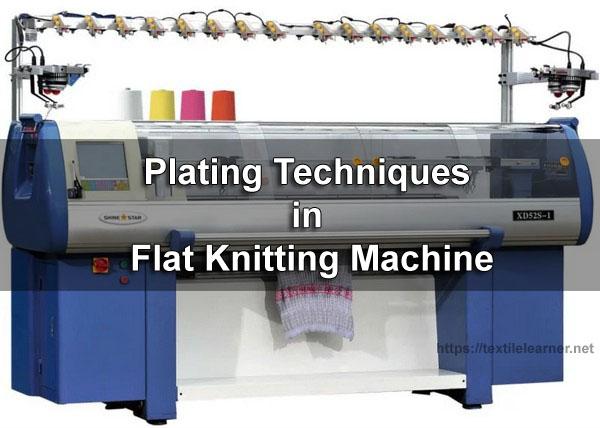 Plating in flat knitting machine