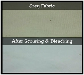 Condition of fabric after scouring and bleaching