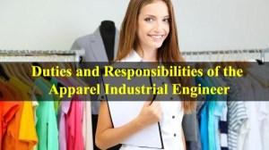 Duties for apparel industrial engineer