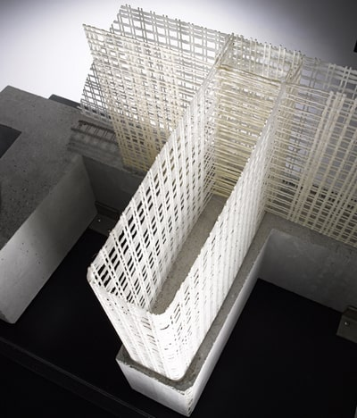 textile concrete bridge column