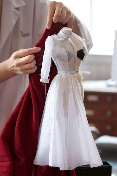 miniature dress draping