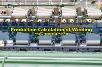 Winding Production Calculation with Formula in Weaving