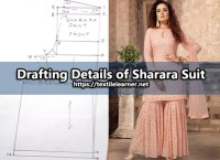 Drafting Procedures of Sharara Suit for Women