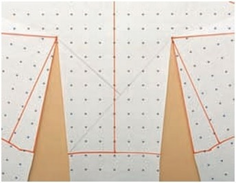 Asymmetric darts step-3