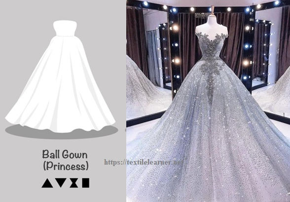 Bell or Ball Gown Silhouette