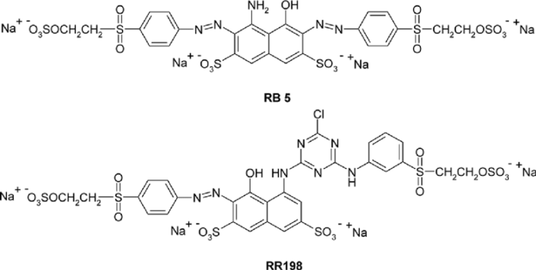 Chemical structure of Reactive Dye