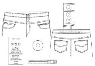 Spec Sheet for Ladies Trousers