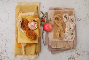 Fabric Dyeing with Pomegranate Peel