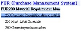 Purchase management system