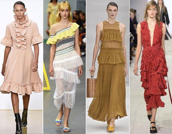Ruffles or frills trim on dress