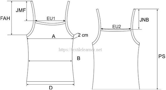 Spec sheet of Tank Top
