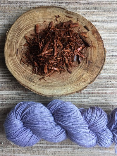 Logwood and dyed hank