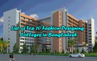 List of Top Fashion Designing Colleges, Universities, Schools and Institutes in Bangladesh