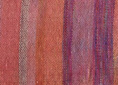Warp-painted plaited twill - warm colors