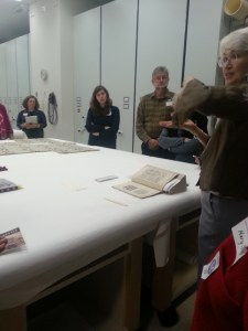 Joyce Denney discussing a Japanese pattern book for sarasa