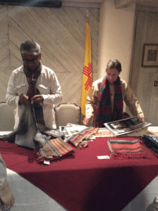 Artist Danyalal Kudecha and interpreter Judy Frater during interactive session