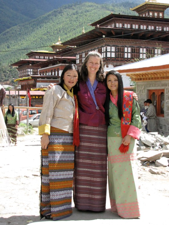 Wendy with her weaving teacher and friend