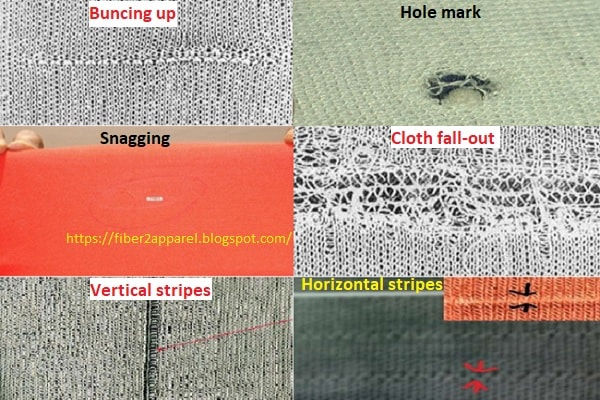 Knit fabric defects