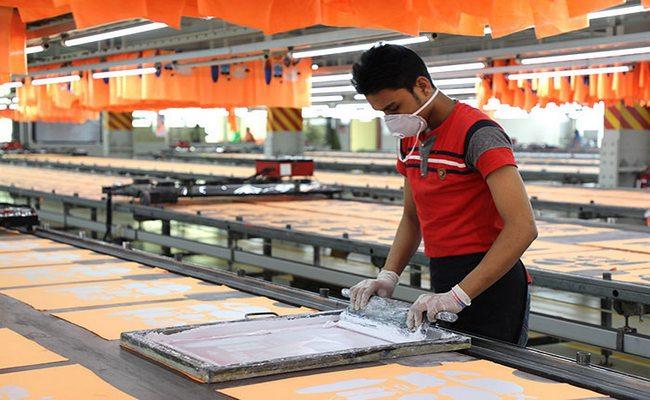 Printing factory in Bangladesh