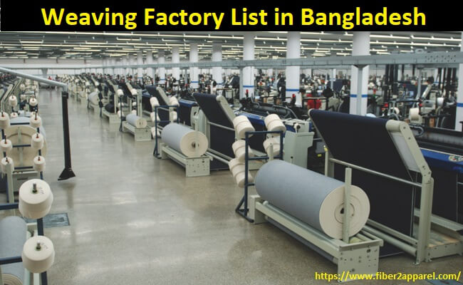 Weaving factory or mill list in Bangladesh