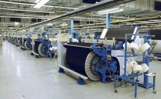Denim fabric manufacturing factory