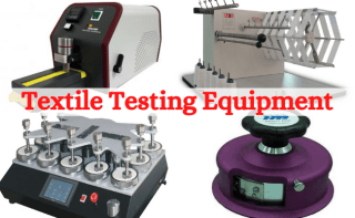 Textile testing equipment used in manufacturing industry