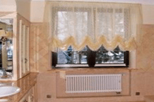 Ванная в дизайнах штор