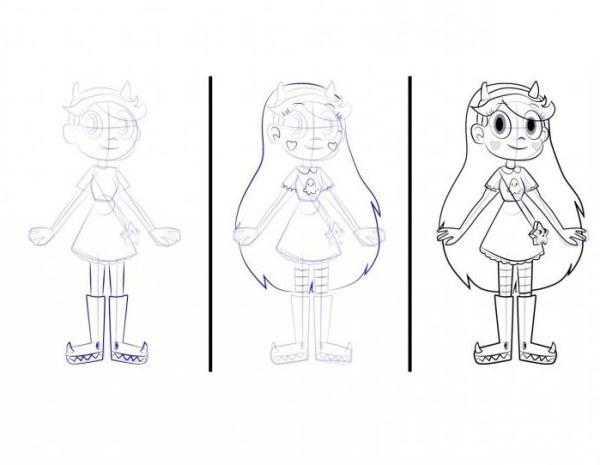 Как нарисовать Стар Баттерфляй из мультсериала