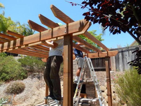 Как сделать из дерева перголу своими руками: пошаговая инструкция, фото