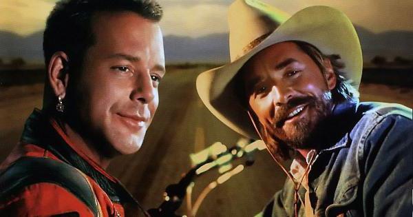 Харлей Дэвидсон и Ковбой Мальборо, актёры в образе своих героев