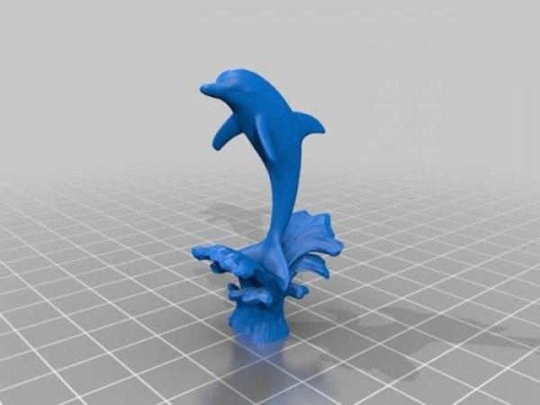 Милый дельфин из пластилина
