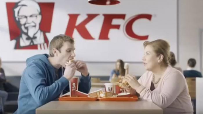 Пример рекламы KFC