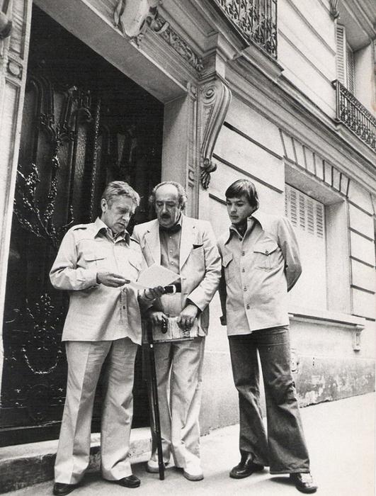В. Максимов, А.Галич и Вадим Делоне. Париж, 1977 г.
