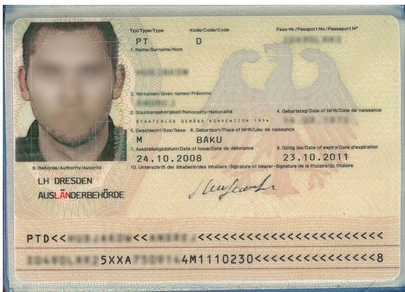 как выглядит немецкий паспорт