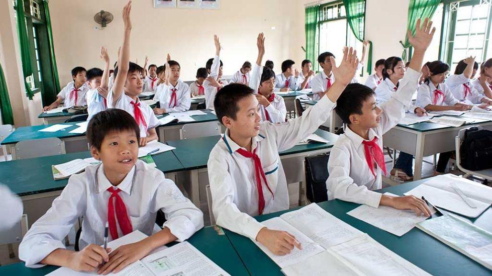 Школьные занятия в Северной Корее