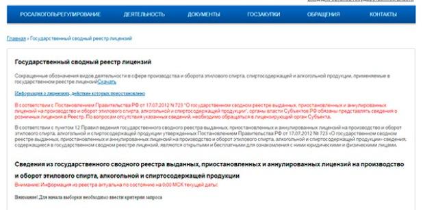 Проверка лицензии по реестру