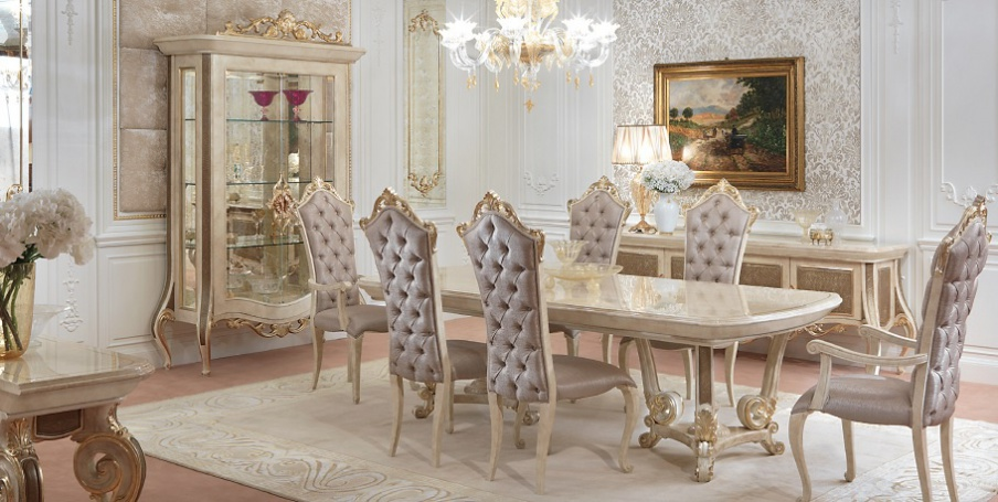 столовая в стиле барокко интерьер