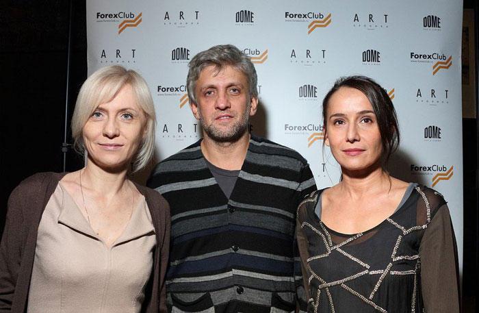 Евгений Митта с семьей.
