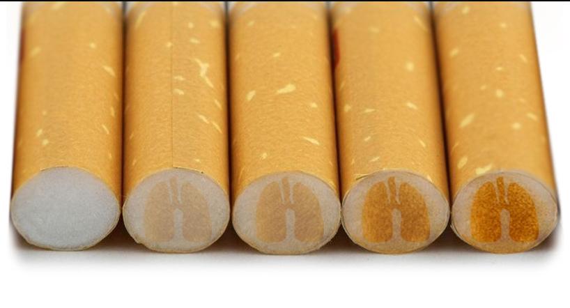 фильтр впитывает никотин