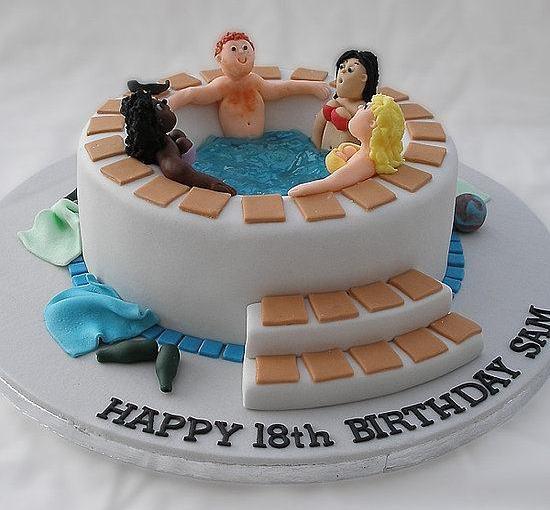 Торт с девушками и парнем