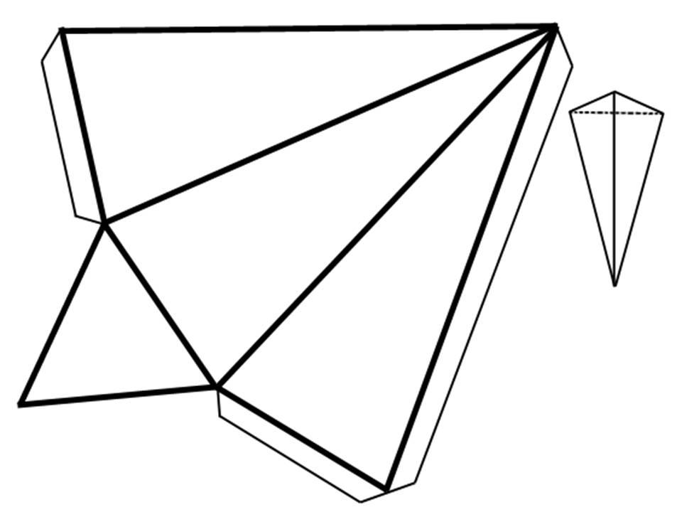 Развертка треугольной пирамиды
