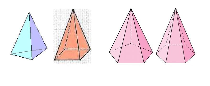 Четыре правильные пирамиды