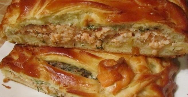 рецепт пирога с форелью